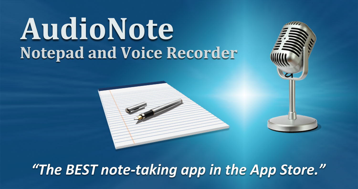 AudioNote note taking app
